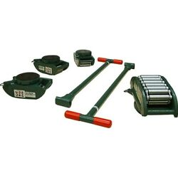New Machinery Rollers 15 Ton Ft Riggers Kit 4 Pad Swivels Rs-15-slp