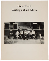 Steve B 1936 Reich / Writings About Music. 1974