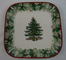 2008 Spode Christmas Tree Byrd Cook Annual 70th Anniversary Square Plate Ed23