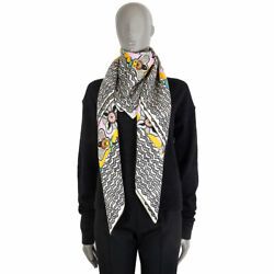 62162 Auth Valentino Pink And Multicolor Silk Floral 140 Xxl Shawl Scarf