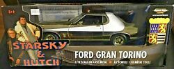 Starsky And Hutch Ford Gran Torino 118 Scale Die Cast Metal Chrome Car Rare