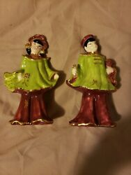 Wonderful Antiques Pair Of Chinese/japanese Porcelain Figurines Unmarked
