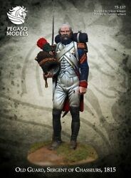 French Sergeant Of Chasseurs Tin Painted Toy Miniature Pre-sale | Museum Quality