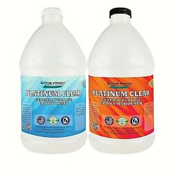 Crystal Clear Epoxy for bar tops tables crafts jewelry castings 1 Gallon Kit $59.08