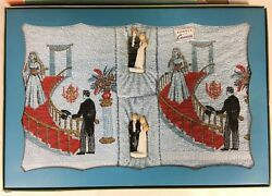 Vintage 1940s His Hers Wedding Gift 4 Pc Cannon Unused In Box Terry Towel Set