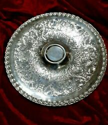 William Rogers And Son Silver Plate Spring Flower 12 Serving Platter Chip And Dip