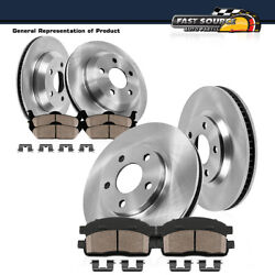 Front+rear Brake Rotors Ceramic Pads For 2001 2002 2003 2004 2005 E46 Bmw 325xi
