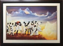 Willie Nash A Question Was Asked Plate Signed Framed African American Art