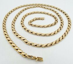 14k Yellow Gold Figure 8 Link Necklace Long 37 Inch 5.1mm 31.4g S964