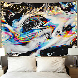 USA Hippie Tapestry Wall Hanging Abstract Psychedlic Blankets Bedspread Home Dec