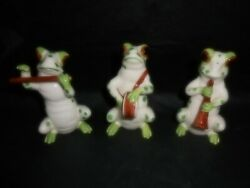 Fitz And Floyd Figurines Frog Band Japan Set/3