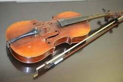 Old Antique Vintage Violin With Bow 4/4