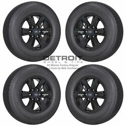 17 Ford F150 Gloss Black Wheels Rims And Tires Oem Set 4 2015-2020 3995