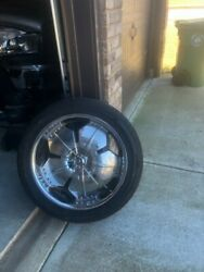 22 Inch Rims And Tires Used -4 Tires And Rims Total