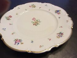 Hutschenreuther White The Mayfair 7619 Floral Dinner Plate 10