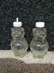 Vintage Glass Pig Shaped Jars - 3 Inches High