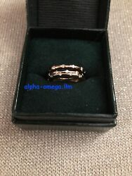 Roberto Coin Classica Diamond Ring 3 Pc Set-white Yellow Rose 18 Kg Stack Rings