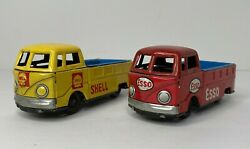 Endoh 1960s Tin Friction Esso And Shell Vw Volkswagen Pick Up Truck Bus Japan