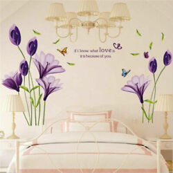 Removable Flowers Home Living Room Mural Decor Art Room Decors DIY Wall Sticker