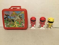 Vintage 1994 Aladdin Power Rangers Mighty Morphin Red Lunch Box W/bobble Heads