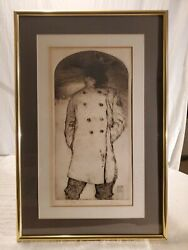 The Poet 1969 Signed Barry Moser Limited Ed 24/50 Wood Engraving 26.5x17.5