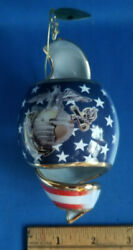 Two '2002' Usmc Military Ornaments 2 By Bradford Editions