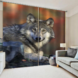 3d Wolf Lion Tiger Curtain Man Boy Family Decoration Bedroom Curtain 2020