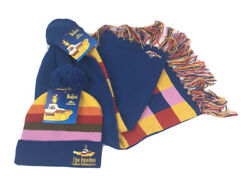 The Beatles Beanie Hat Stocking Cap And Scarf Yellow Submarine Adult Unisex New
