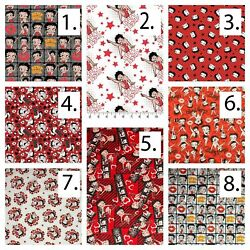 Betty Boop Cotton Fabric Digital Printed By The Yard