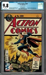 Action Comics 1000 Cgc 9.8 Nm 1940and039s Variant By Micheal Cho