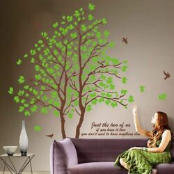 Large 3D Removable Dining Room Wall Trees Green Decorative Furnishing Home