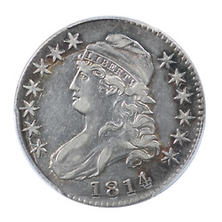 1814/3 Capped Bust Half Dollar Pcgs Certified Au53