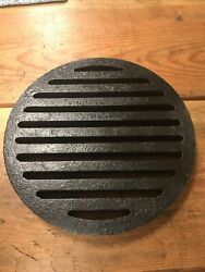 """Cast Iron Grate Neenah Foundry 11-13/16"""" Top Diameter X 1-1/8"""" Thick"""