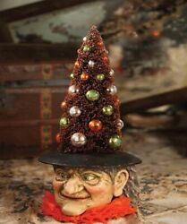 Bethany Lowe Halloween Tree Witch Figure Midnight Magic Collection