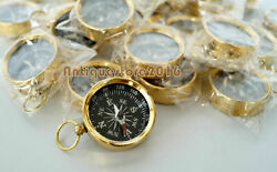 Vintage Brass Solid Antique Golen Finish Compass Beautiful 1 Inch Lot Of 20