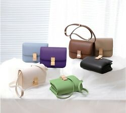 20 Colors Optional Classics Girl/womenand039s Cowhide Leather Single Shoulder Bag