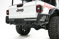 Fab Four Double Rung Side Step Black Jeep Jt Rear Bumper For 2020 Jeep Gladiator
