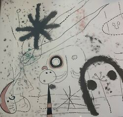 Joan Miro Lithograph Large Unique Style Original And Signed Great Condition