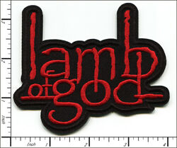 30 Pcs Embroidered Iron On Patches Lamb Of God Metal Music Ap056lm