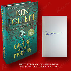 The Evening And The Morning SIGNED Ken Follett 2020HC1st 1st BRAND NEW $81.22
