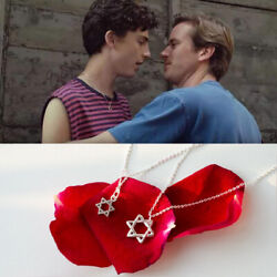 925 Silver Star Pendant Movie Call Me By Your Name Elio Same Style Necklace Gift