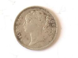 British India Sterling Silver Coin Victoria Queen 1840 Halloween