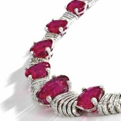 Sparkly Pink And White Solid 925 Sterling Silver Unique Necklace Evening Wear