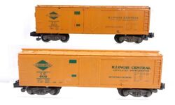 2 American Flyer Illinois Central Refrigerator Box Car 802 And 923 S Scale