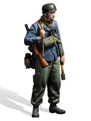 German Paratrooper With Rifle, 1940 Painted Figure Toy Miniature Pre-sale   Art