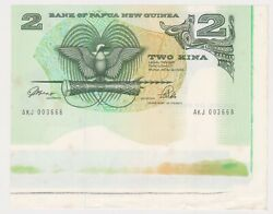 K566-1 1990 Png 2 Kina Bank Note With Salvagea