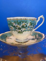 Vintage Queen Anne English Bone China Cup And Saucer Set Marilyn