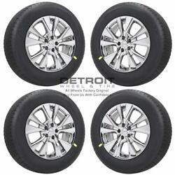18 Nissan Murano Pvd Bright Chrome Wheels Rims And Tires Oem Set 4 2013-2019...