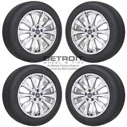 18 Ford Escape Pvd Bright Chrome Wheels Rims And Tires Oem Set 4 2013-2019 1...