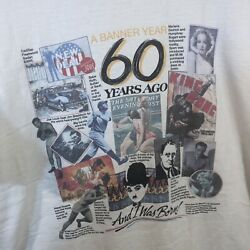 60 Years Ago Pop Culture News T Shirt Vintage Peacock Size Large L Babe Ruth Fdr